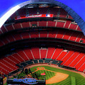 Busch Stadium A Zoomed View From The Arch Merged Image by Thomas Woolworth