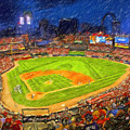 Busch Stadium At Night Rocks by John Farr