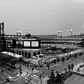 Busch Stadium From The East Garage Black And White by C H Apperson