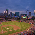 Busch Stadium St. Louis Cardinals Ball Park Village Twilight #3c by David Haskett II
