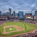 Busch Stadium St. Louis Cardinals Cardinal Nation Ball Park Blue #2b by David Haskett II