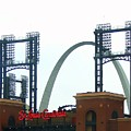Busch Stadium With Arch by J R Seymour