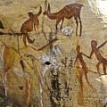 Bushman Painting by Michele Burgess