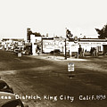 Business District, Standard Gas Station, Real Joy Theater, King  City by California Views Archives Mr Pat Hathaway Archives
