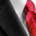 Business Suit White Shirt Red Tie Formal Wear Fashion by Lane Erickson