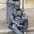 Busker In Rome by John Malone