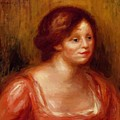 Bust Of A Woman In A Red Blouse by Renoir PierreAuguste