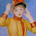 Bust Of A Woman Yellow Dress by Renoir PierreAuguste