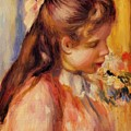 Bust Of A Young Girl by Renoir PierreAuguste