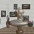 Bust Of The Spirit Of Einstein 1 by Pemaro