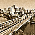 Busy Austin In Lithograph  by James Granberry