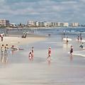 Busy Beach Day by Deborah Benoit
