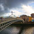 Busy Ha'penny Bridge 4 by Alex Art and Photo