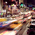 Busy Hollywood Boulevard At Night by Bryan Mullennix