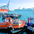 Busy Port Of Valparaiso-chile by Ruth Hager