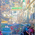 Busy Street In Central Marketplace In Rocinha Favela In Rio De Janeiro-brazil  by Ruth Hager