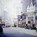 Busy Street In Kolkata by Samiran Sarkar