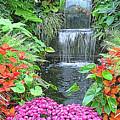 Butchart Gardens Waterfall by Wendy McKennon