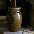 Butter Churn On Hearth Still Life by Douglas Barnett