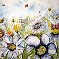 Butterflies And Flowers by Derek Mccrea
