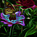 Butterflies And Flowers IIi by Tina Baxter