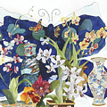 Butterflies And Orchids by Marcy Silverstein