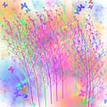 Butterflies And Wildflowers by Judi Suni Hall