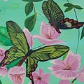 Butterflies In Flight by Martha Mullins