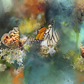 Butterflies On A Spring Day by Toni Hopper