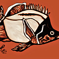 Butterfly Fish In Watercolor by Debra Lynch