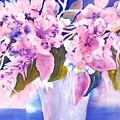Pink Butterfly Flowers by Sabina Von Arx