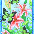 Butterfly Idyll- Lilies by Alison Stein