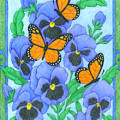 Butterfly Idyll-pansies by Alison Stein
