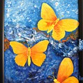 Butterfly In Blue 1 by Stella Velka
