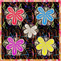 Butterfly Look Graphic Flowers Colorful  Art For A Cheerful Smiling Mood Great For Kids Room Party R by Navin Joshi