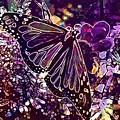 Butterfly Monarch Flower  by PixBreak Art
