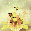Butterfly Morning Contemporary Art by Isabella Howard