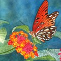Butterfly With Flower by Sharon Farber