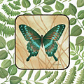 Butterfly With Leaves 2 by Chantal Candon