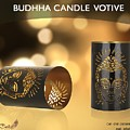 Buy Attractive Buddha Candle Votive From Rustik Craft  by Sangeeta Sharma