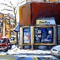 Buy Original Montreal Paintings Beauty's Winter Scenes For Sale Achetez Petits Formats Tableaux  by Carole Spandau