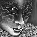 Bw- Carnival Mask by Patty Vicknair