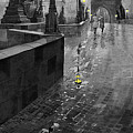 Bw Prague Charles Bridge 01 by Yuriy  Shevchuk