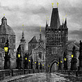 Bw Prague Charles Bridge 04 by Yuriy Shevchuk