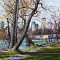 By Niagara River by Ylli Haruni