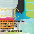 By Prayer And Petition- Contemporary Christian Art By Linda Wood by Linda Woods