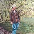By The Lake - Self Portrait by Robert Levene