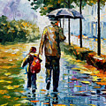 By The Rain by Leonid Afremov