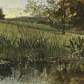 By The Riverbank, 1869 by Heywood Hardy