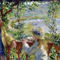 By The Water Near The Lake by Renoir PierreAuguste